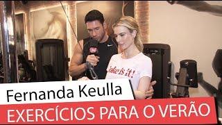 Fernanda Keulla ensina exercícios para o verão