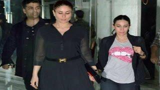 Pregnant Kareena Kapoor Party With Sister Karishma Kapoor And Karan Johar