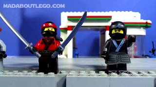 LEGO NINJAGO Water Strider Stop Motion Build