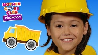 Building With Toys | Construction Trucks | Mother Goose Club Playhouse Kids Video