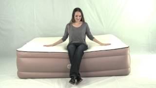 Queen Air Bed - Memory Foam Topper & Built in Pump - Airtek Air Mattress