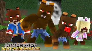 Minecraft - Donut the Dog Adventures -WEREWOLVES - DONUT EATS BABY MAX & LEAH!!