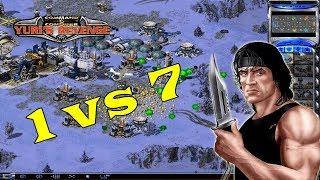 Red Alert 2 - me vs 7 Brutal AI + super weapons