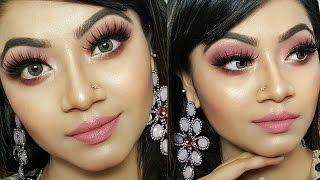 Pink Shimmery Eye Makeup Tutorial   Wedding Guest/Party makeup    Makeup Maniac By Linda