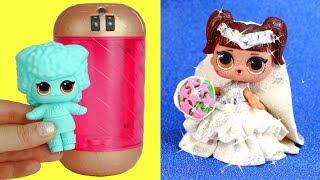 DIY LOL Bride Doll How to Make Play Doh Wedding Dress for LOL Doll Underwrap Series Kansas Q.T.