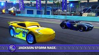 Cars 3: Driven to Win (PS4) Gameplay - Cruz Ramirez vs. Jackson Storm (Hard Mode)