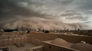 Wie im Horrorfilm: Heftiger Sandsturm in Iran