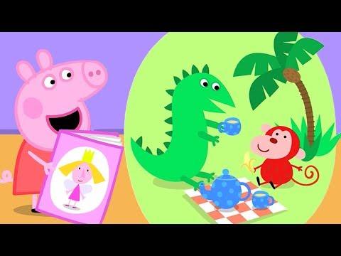 Peppa Pig English Episodes | Peppa's Library Visit! | #115