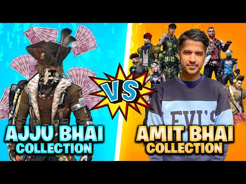 Ajjubhai Vs Amitbhai Desi Gamers Best Collection Who will Win Garena Free Fire