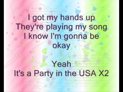 watch Miley Cyrus Party in the Usa lyrics
