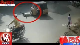 Exclusive Visuals : Old Man Demise In Auto Accident | Hyderabad | Teenmaar News