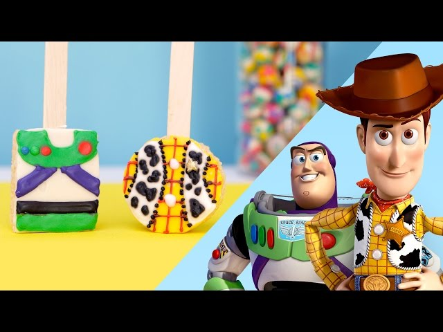 Toy Story Inspired Rice Crispy Pops | Disney Family