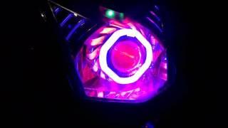 Review lampu Proji led dan knalpot CHA Beat FI