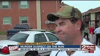 Tulsa Police search for murder suspect