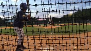Kimani Thomas Baseball hitting