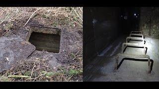 Secret forest door opened ,, and underground bunker.