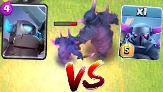MINI PEKKA vs. BIG PEKKA!! | Clash of clans | Battle to the death!!