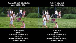 Comparision Panasonic UX90 vs Sony NX100| Latest Video 2017