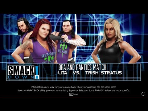 Wwe2k19 Bra And Panties Match: Lita vs. Trish Stratus