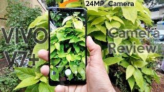 Vivo V7 plus Camera Review // 24 MP Selfie // Moonlight Flash