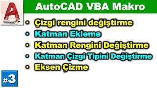 AutoCAD ile VBA makro kullanımı #3