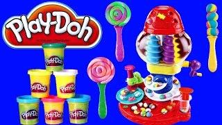 Play Doh Turbilhão de Doces Balas Chicletes Pirulitos TOYSBR Portugues BR   Play Doh Candy Cyclone