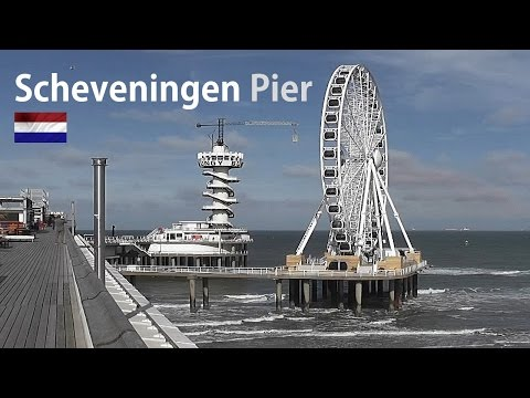 HOLLAND: Scheveningen Pier & Ferris wheel (reuzenrad) HD
