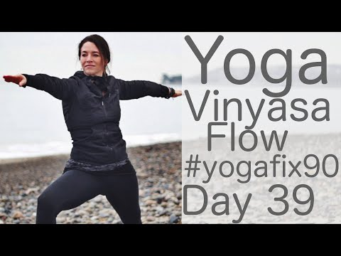 Yoga Vinyasa Flow Total Body Workout Day 39 Yoga Fix 90 with Fightmaster Yoga
