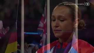 Jessica Ennis medal ceremony - London 2012