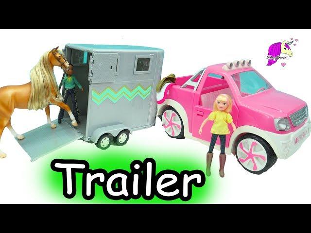 Loading Spirit Riding Free Breyer Horses Into Lori Doll Horse Truck & Trailer Set