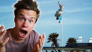 WORLD'S BEST TRAMPOLINE TRICKS EDITION! (REACT)