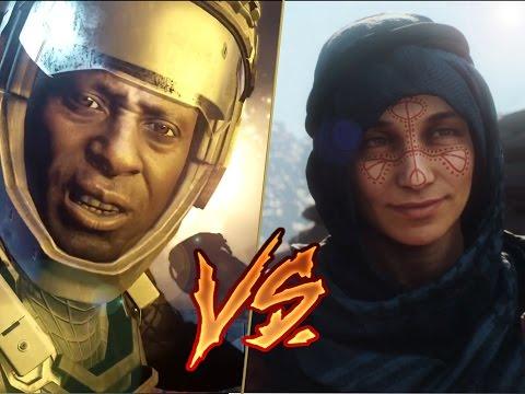 watch Battlefield 1 vs Call Of Duty Infinite Warfare Story Campaign Trailer Comparisons