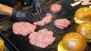 Special HAMBURGERS - Beef, Bacon, Cheese, Chips, Calamari burgers | American Street Food from USA