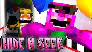 Minecraft FNAF HIDE N SEEK! (CHICA GET'S HUNGRY!)