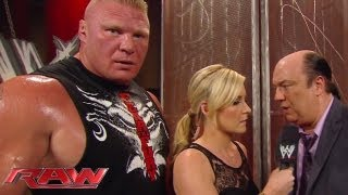 Brock Lesnar is unimpressed with CM Punk: Raw, August 5, 2013