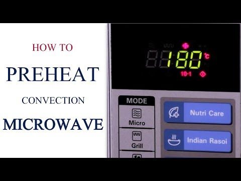 How To Pre-heat A Convection Microwave | Oven Series | Cakes And More