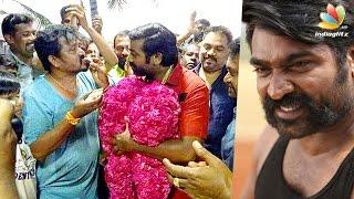 Vijay Sethupathi Birthday Celebration At Karuppan Movie Shooting Spot