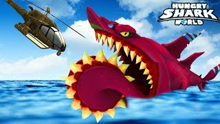 NEW HELICOPRION SHARK Gameplay!!! | New Shark Update | Hungry Shark World Part 66