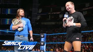 Ambrose interrupts Styles to hit Ellsworth with Dirty Deeds: SmackDown LIVE, Dec. 6, 2016