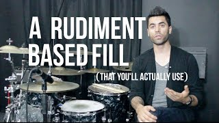 A Rudiment Based Fill (That You'll Actually Use) - The Orlando Drummer