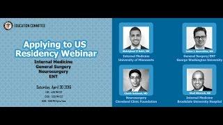 Applying to US Residency: Internal Medicine, General Surgery, Otolaryngology & Neurosurgery