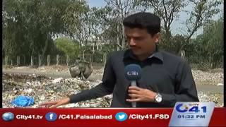 Commissioner road Faisalabad piles of garbage