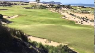 The short par 4 seventh hole at Tara Iti GC, New Zealand