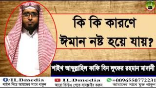 Ki Ki Karone Iman Nosto Hoye Jay?  Sheikh Abdullahil Kafi Bin Lotfur Rahman