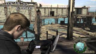Resident Evil 4 - The Mercenaries (Welcome To Hell) Mode - WaterWorld - Wesker (705.500) HQ