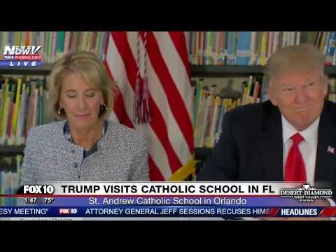 WATCH Trump and DeVos Visit St. Andrew Catholic School in Orlando FL FNN