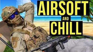 Airsoft and Chill Day at SC Village | Elite Force MP7 Navy Gas Blow Back SMG