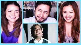 TAMIL SEMMOZHI MANADU ANTHEM   A.R. Rahman   Reaction by Jaby, Achara & Leanna!