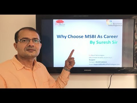 Why MSBI as career option is gold ? Explained by Suresh Sir.