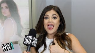 Lucy Hale Shares Tongue Talent & Britney Spears Obsession! (HOT SEAT)